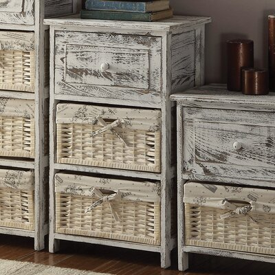 Cottage Home 1 Drawer 2 Basket Chest