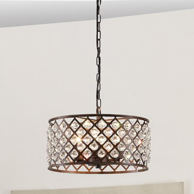 Breunig 4-Light LED Drum Pendant