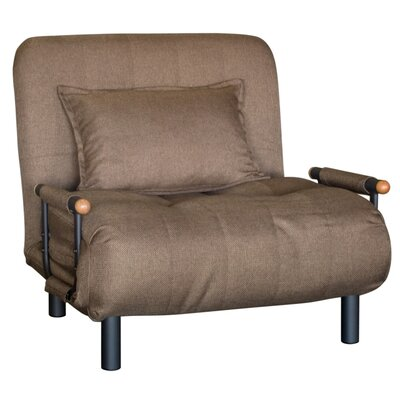 Gladys Convertible Chair Upholstery: Sand Brown