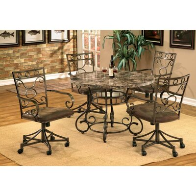 Blue Mountain Marble 5 Piece Dining Set