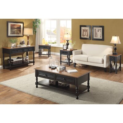 Hermila 4 Piece Standard Coffee Table Set
