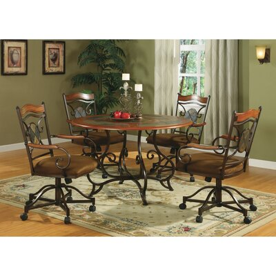 Haston 5 Piece Breakfast Nook Dining Set