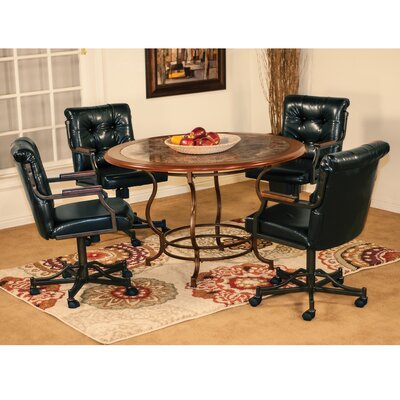 Hatfield 5 Piece Breakfast Nook Dining Set