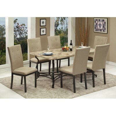 Haubrich 7 Piece Breakfast Nook Dining Set