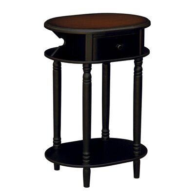 Cheap Anthony California Accent Table in Distressed Black (ANY1429)