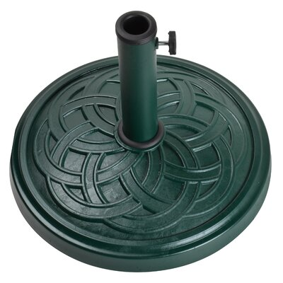 Stone Free Standing Umbrella Base Finish: Green