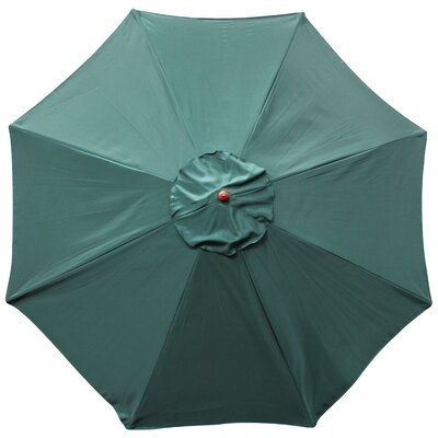 Market Umbrella Fabric: Green, Opening Mechanism: Dual Pulley and Skylight, Pole Material: Teak Hard Wood