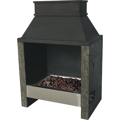 Bond 67771 Ocala Wood Stainless Steel Gas Outdoor Fireplace