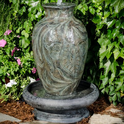 Polystone Brielle Urn Fountain With Led Light