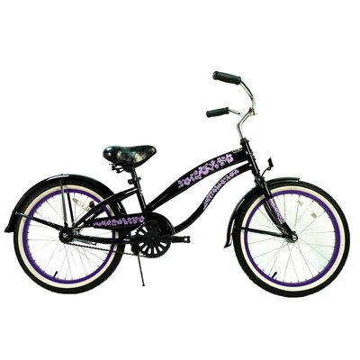 "GreenLine Bicycles Ladies 20"" Single Speed Beach Cruiser Bike - Frame Color: Black with Purple at Sears.com"