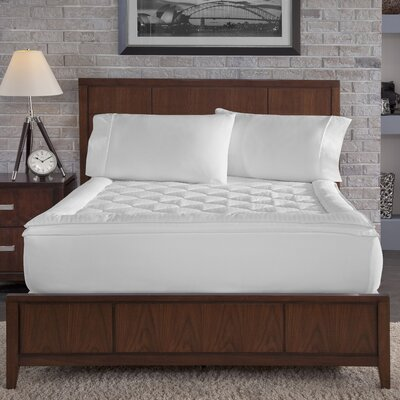 Perry Ellis Stripe Mattress Enhancer Size: Full