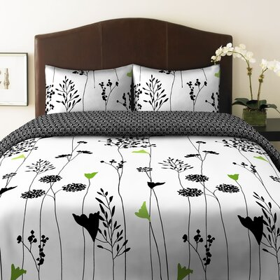 Asian Lily Reversible Comforter Set Size: King