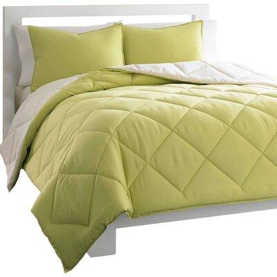 City Scene Microfiber Reversible Comforter Set - Size: King Color: Light Green