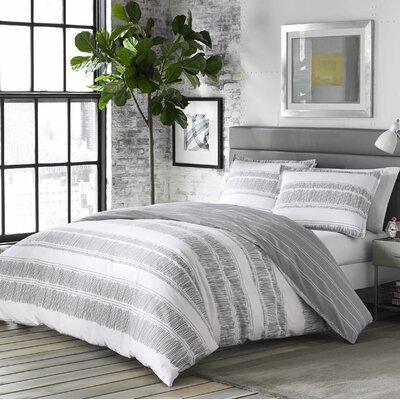 Yvette 100% Cotton Reversible Comforter Set Size: Twin