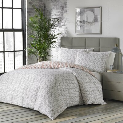 Updegraff 100% Cotton Reversible Comforter Set Size: Full/Queen