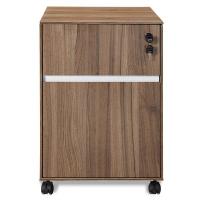Jesper Office 300 Series Mobile File Cabinet - Finish: Walnut