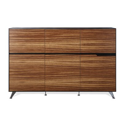 Prestige Collection Credenza Color: Zebrano Wood