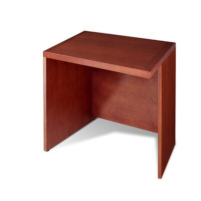 VIP Collection 28 H x 35.5 W Reversible Desk Return Finish: Cherry