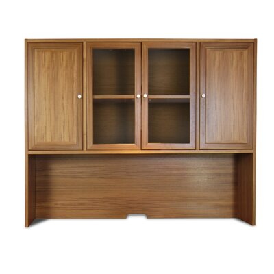 VIP Collection 58 H x 71 W Desk Hutch Finish: Teak