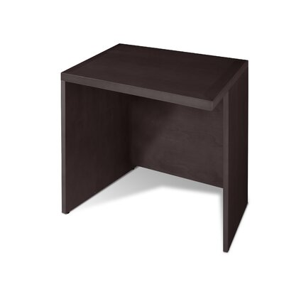 VIP Collection 28 H x 35.5 W Reversible Desk Return Finish: Espresso