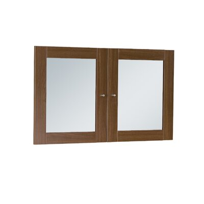 Buragate 20 H x 30 W Desk Hutch Door Finish: Walnut