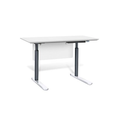 400 Height Adjustable Desk Finish: White Product Picture 130