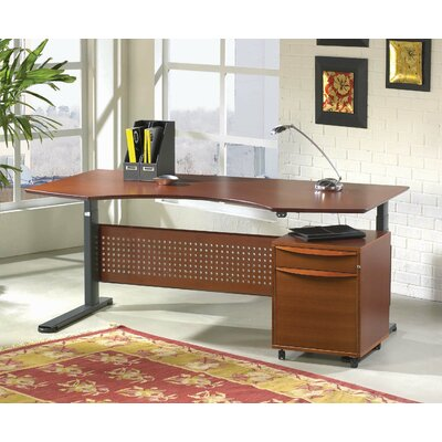 Motorized Standing Desk in Wood 63 Top Finish: Cherry Product Image 2547