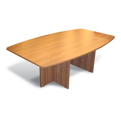 Pro X Boat shaped 29H x 48W x 84L Conference Table Laminate Finish: Walnut