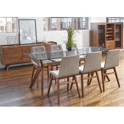 Nicholas Glass 7 Piece Dining Set