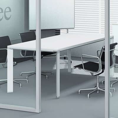 500 Collection 5.92' Rectangular Conference Table Finish: White Lacquer Product Image 6
