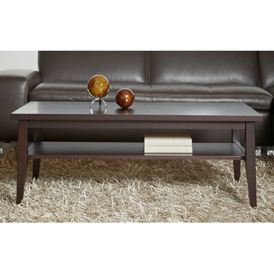Wood Coffee Table Color: Espresso Stained Wood Veneer