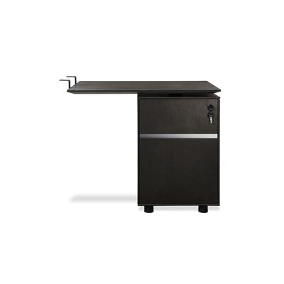 Manhattan Collection 27 H x 32 W Reversible Desk Return Finish: Espresso