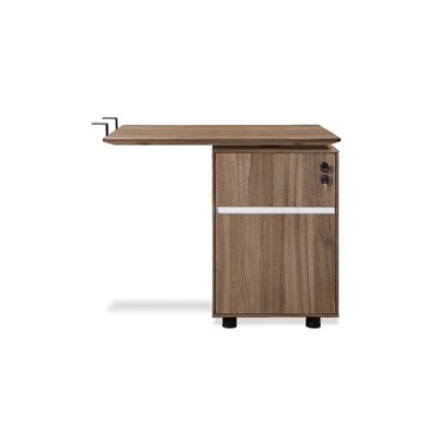 Manhattan Collection 27 H x 32 W Reversible Desk Return Finish: Walnut