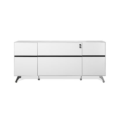 Prestige Collection Executive Storage Sideboard Color: White Lacquer