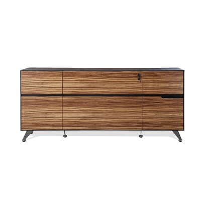 Prestige Collection Executive Storage Sideboard Color: Zebrano Wood