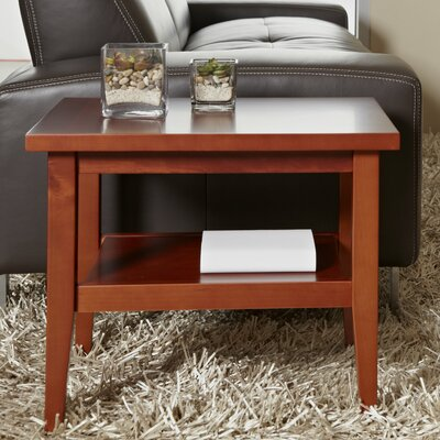 Wood End Table Color: Teak