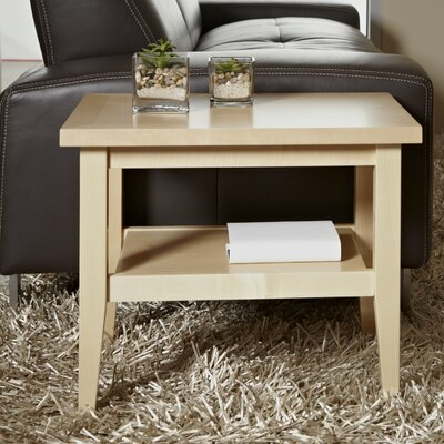 Wood End Table Finish: Maple