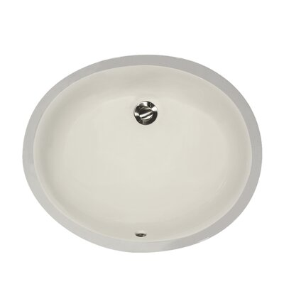 Great Point Oval Undermount Bathroom Sink with Overflow Sink Finish: Biscuit