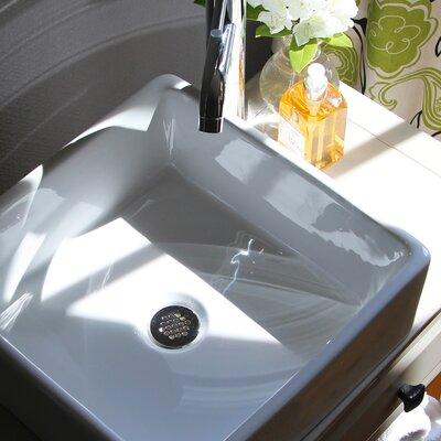 Brant Point Ceramic Square Vessel Bathroom Sink