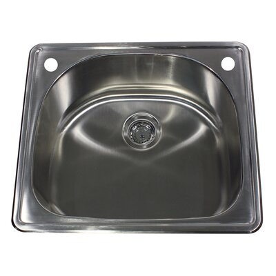 Madaket 25 x 22 Self Rimming D Bowl Kitchen Sink
