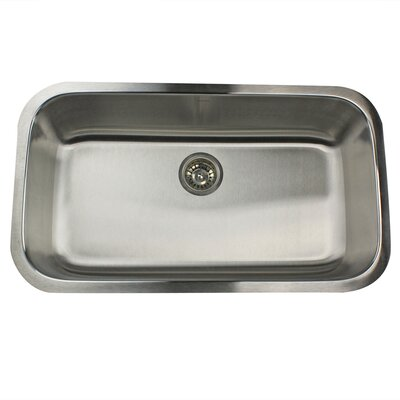 Sconset 32.38 x 18.88 Single Bowl Stainless Steel Kitchen Sink