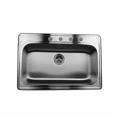 Madaket 33 x 22 Single Bowl Stainless Steel Kitchen Sink