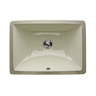 Great Point Rectangle Undermount Bathroom Sink with Overflow