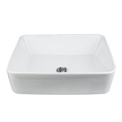 Brant Point Rectangular Vessel Bathroom Sink