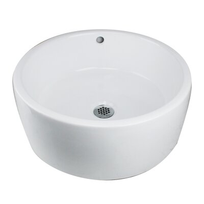 Brant Point Circular Vessel Bathroom Sink