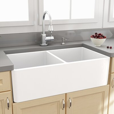 Cape 33 x 18 Double Bowl Kitchen Sink with Grids