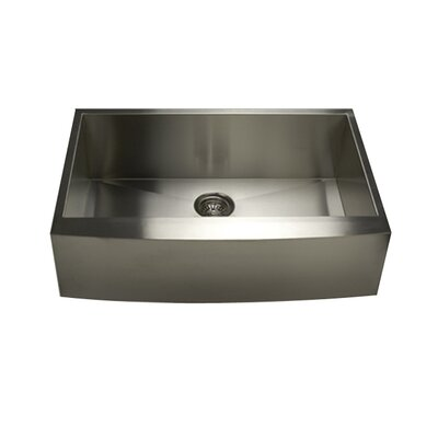 Pro Series 33 x 21 x 10 Single Bowl Farmhouse Apron Front Stainless Steel Kitchen Sink