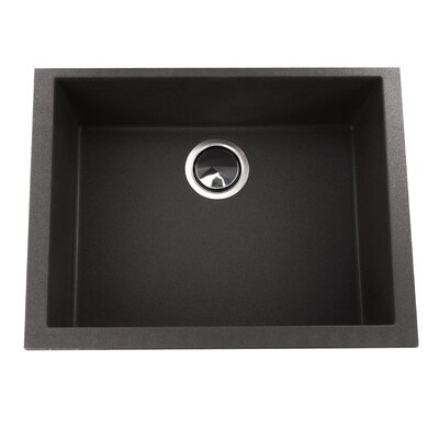 Plymouth 23.63 x 17.75 Undermount Kitchen Sink Finish: Black