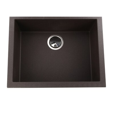 Plymouth 23.63 x 17.75 Undermount Kitchen Sink Finish: Brown