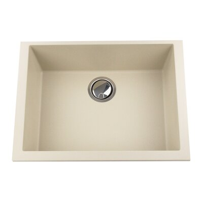 Plymouth 23.63 x 17.75 Undermount Kitchen Sink Finish: Sand
